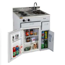Avanti 30 Inch Compact Kitchen with cu. All-Refrigerator, Electric Cooktop, Stainless Steel Countertop, Stainless Steel Sink, Chrome Faucet and Integrated Backsplash Basic Kitchen, Compact Kitchen, Mini Kitchen, Summer Kitchen, Kitchen Small, Open Kitchen, Stainless Steel Countertops, Stainless Steel Sinks, All Refrigerator