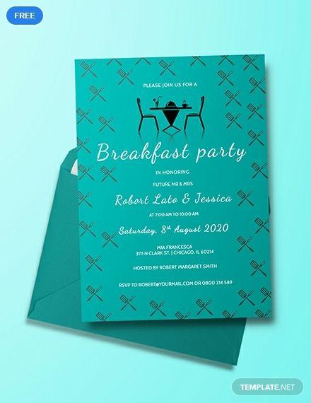 Free Simple Breakfast Party Invitation