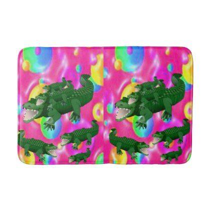 Alligator Bathroom Bathmat Shower Gifts Diy Customize Creative Bath Mat Rug Bath Mat Shower Gifts Diy