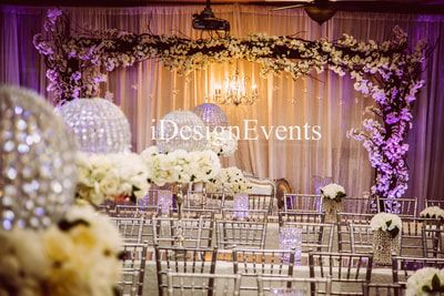 Custom Enchanted Garden Backdrop Arch Of Cherry Blossoms Chandelier And Flowers Wedding Ceremony R Backdrops For Parties Rental Decorating Backdrop Decorations