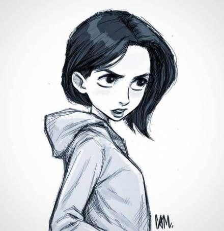 Drawing Hair Sketches Cartoon 32 Ideas Hair Sketch Girl Hair Drawing Short Hair Drawing