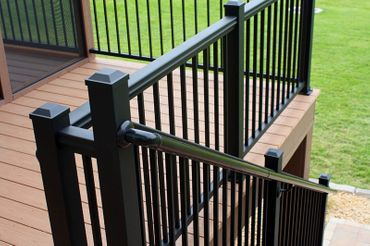 If Vinyl Isn T Your Thing We Do Have Afco Aluminum Rails They Re Definitely Pricier But The Quality Is Impeccable Handrail Design Railing Aluminum Railing