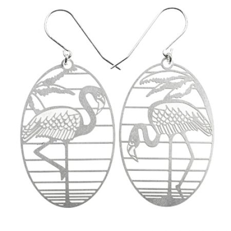SS Flamingo Earrings - hardtofind.