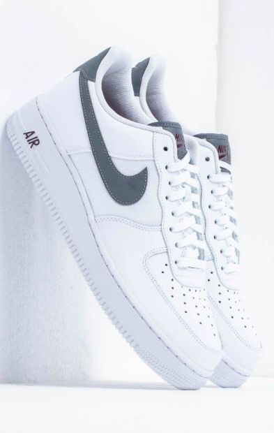 Nike Air Force 1 '07 Lv8 White Cool Grey Night Maroon