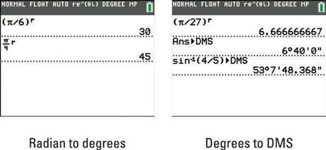 Degrees Minutes Seconds Graphing Calculators Trigonometry