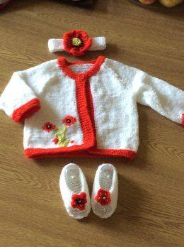 73749e24bbe Poppy Cardigan Set | Yarnie | Baby knitting patterns, Crochet baby ...