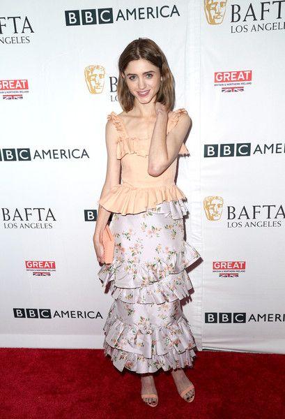 Natalia Dyer attends the BBC America BAFTA Los Angeles TV Tea Party 2017.