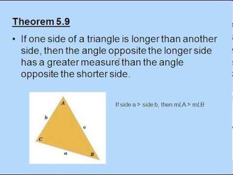 Exterior Angle Inequality Theorem Youtube Theorems Exterior Angles Angles