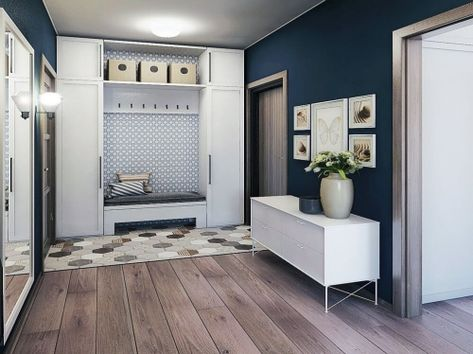 peinture couloir moderne sol en planches et en carrelage ...
