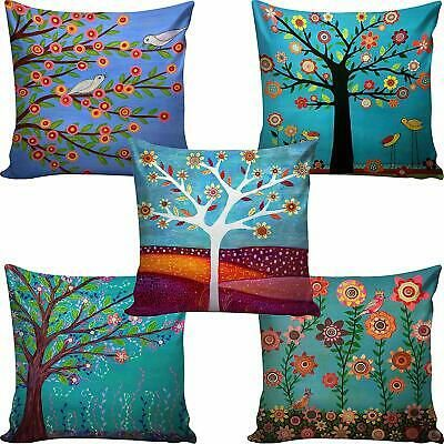 Details About Jute Printed Digital Desgin Decorative Sofa Cushion Cover Pack Of 5 Tree5 In 2020 Printed Cushion Covers Cushion Covers Cushions On Sofa