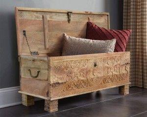 Meble Indyjskie Rzezbiona Skrzynia Drewniana Boho Furniture Home Decor Decor