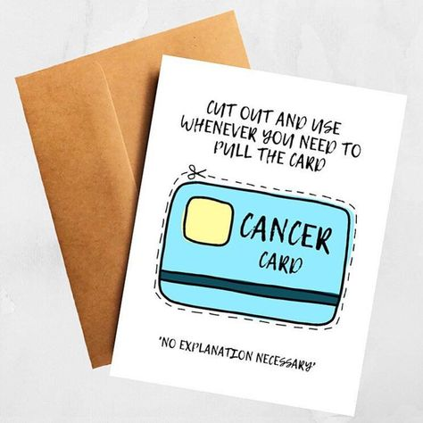 The Cancer Card Funny Get Well Support Card