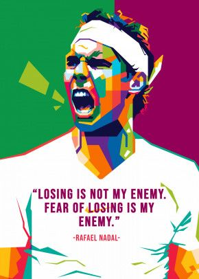 Rafael Nadal Poster Print By Nofa Aji Zatmiko Displate In 2020 Poster Pop Art Rafael Nadal