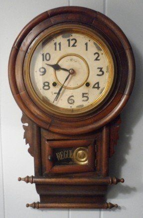 Japanese Wooden 8 Day Movement Meiji Regulator Wall Clock Japan Clock Clock Japanese Wall How To Make Wall Clock