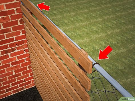 How to Add Privacy to a Chain Link Fence - 3 Ways to Add Privacy to a Chain Link Fence – wikiHow Source by evgenybezrukov - backyard design diy ideas Chain Link Fence Privacy, Chain Fence, Diy Privacy Fence, Privacy Fence Designs, Diy Fence, Backyard Fences, Backyard Landscaping, Backyard Privacy, Pallet Fence