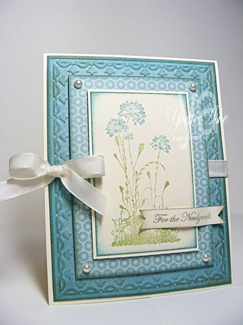 Stampin Up Serene Silhouettes card. Love the soft colours & layers