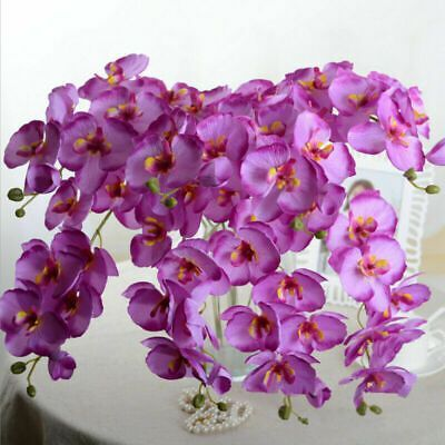 Ebay Link Artificial Butterfly Orchid Silk Flower Bouquet Phalaenopsis Wedding Home Decor Home Garden Fake Flower Bouquet Artificial Flowers Fake Flowers