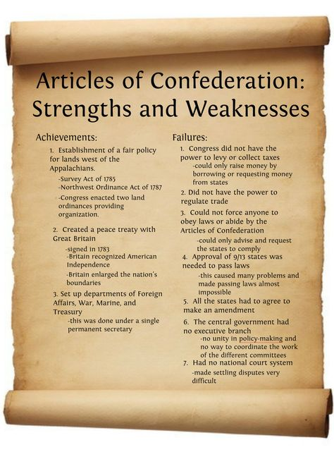 Articles of Confederation Strengths and Weaknesses   Publish with Glogster!