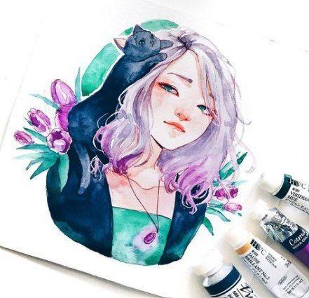 25 Ideen Zum Zeichnen Von Ideen Aquarell Madchen Watercolor