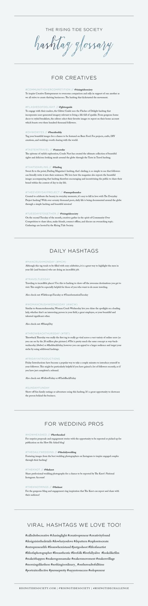 Instagram Hashtag Glossary for Creatives