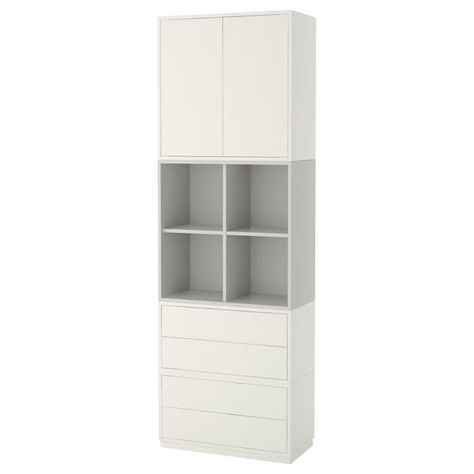 Eket Storage Combination With Base Frame White Light Gray 27 1 2x13 3 4x83 7 8 Speicherideen Schrank Und Regalsysteme
