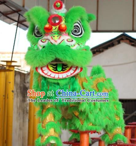 Details about  /Lion Mascot Dance Costume Wool Chinese Folk Art For Children Performance Party