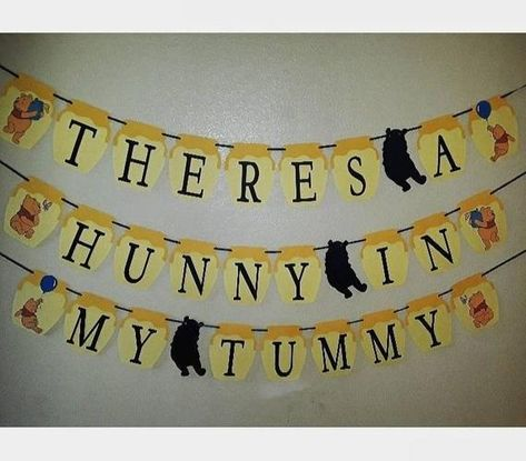 Winnie the Pooh baby shower gender reveal banner Baby Shower Balloons, Baby Shower Themes, Baby Shower Decorations, Shower Ideas, Baby Shower Fall, Baby Boy Shower, Baby Shower Gifts, Winnie The Pooh Themes, Cute Winnie The Pooh