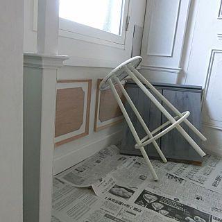 壁 天井 賃貸マンション リノベーション モールディング シャビー