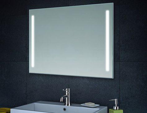 badkamer spiegel met led verlichting 60x80 / 80x60 cm | badkamer