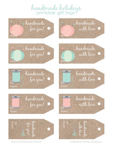 Free download of handmade by labels free printables pinterest free printable handmade holidays gift tags negle Choice Image