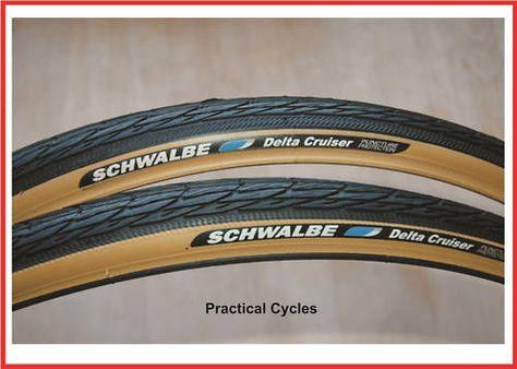 Schwalbe Delta Cruiser 700 x 28c Tire White Sidewall Black//White Bike