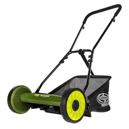 Sun Joe Mj500m Manual Reel Mower W Grass Catcher 16 Inch Walmart Com Reel Mower Reel Lawn Mower Sun Joe