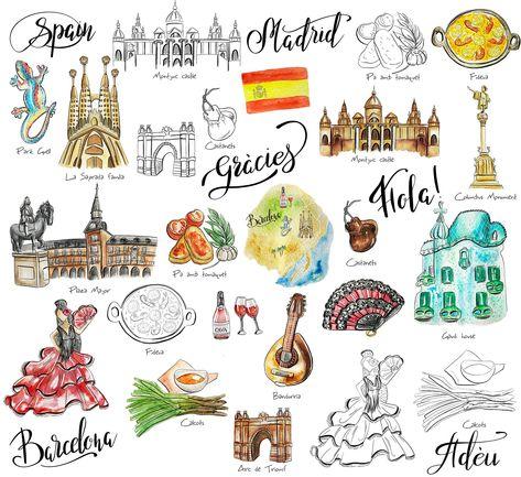 Travel Spain clipart #background#transparent#digital#perfect