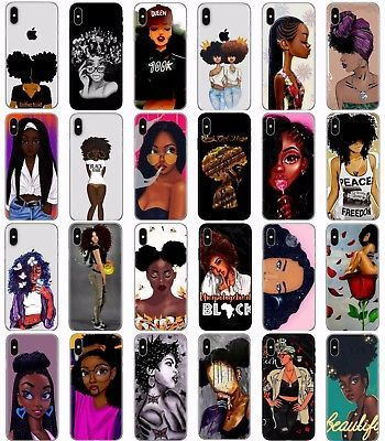 Afro Girls Melanin Poppin Aba Soft Case Cover For Iphone X Xs Max