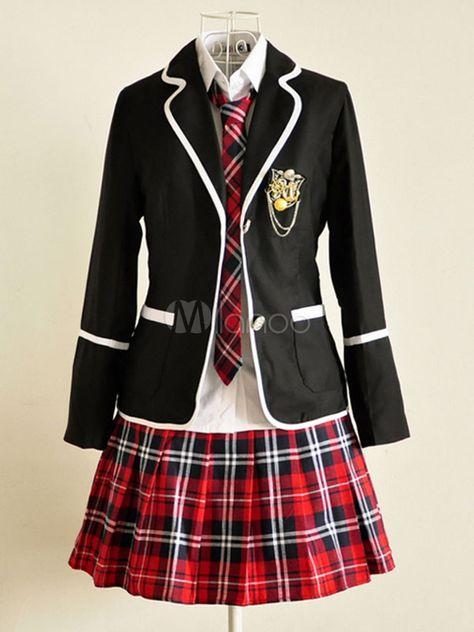 Japan School Uniform girls Dress Cosplay Costume Anime long sleeve Suit coat Shirt with Pleated Skirt