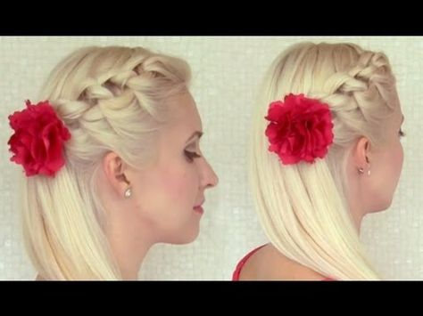 Knotted half updo hairstyle for medium long hair tutorial How to do a knot braid your hair