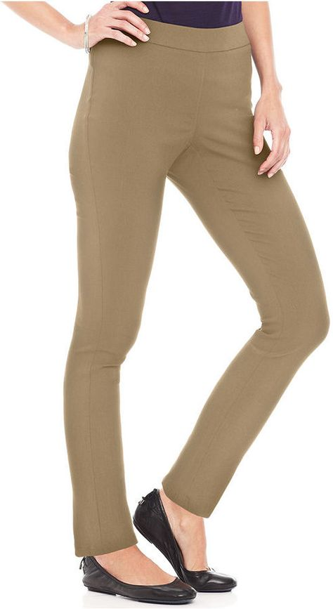 Style&co. Petite Pants, Skinny Pull-On Tummy-Control on shopstyle.com