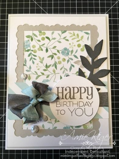 Handmade Birthday Card By Amie Kiger Using The Cake Candles Stamp Set From Verve Vervestamps Handmade Birthday Cards Birthday Cards Bday Cards