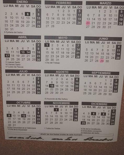 Calendario Laboral Castellon.Pinterest Pinterest