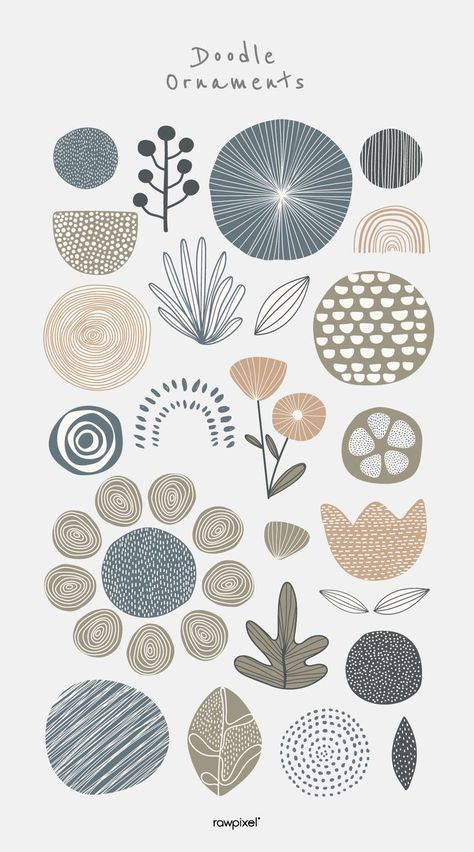 Natural patterned doodle background vector Grab beautiful free and premium royalty-free doodle ornament vectors as well as stock photos, PSD, mockups, and illustrations at … Flower Pattern Design, Pattern Art, Pattern Design Drawing, Pattern Painting, Graphic Design Pattern, Graphic Patterns, Surface Pattern Design, Doodle Background, Vector Background