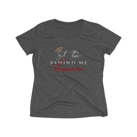 Get Thee Behind Me Demon Hourglass Fit Tee