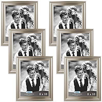 Amazon Com Icona Bay 8x10 Picture Frame 6 Pack Champagne Champagne Photo Frame 8 X 10 Wall Mount Or Table Top Set Of 6 Elegante Colle Gold Picture Frames