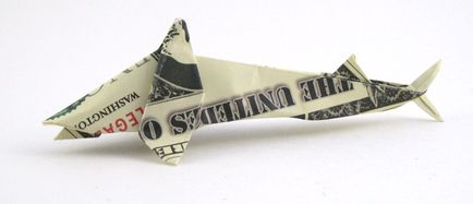$10 Shark - Money Origami - Dollar Bill Art