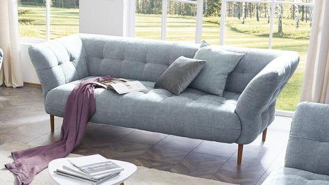 Sofa Big Apple 2 5 Sitzer Stoff Light Blue Gestell Buche Natur 220 Cm Sofa Samt Sofa Und Sofas