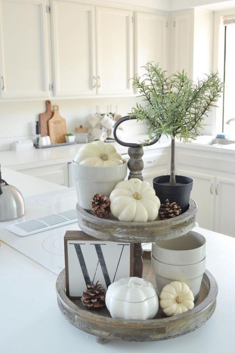 Fall Serving Tray Decor Ideas Kitchen