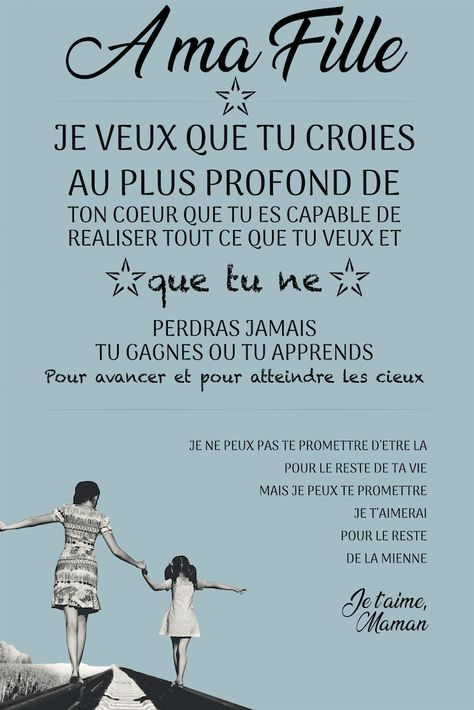 Tableau Citation A Ma Fille Citation Amour Enfant Citations