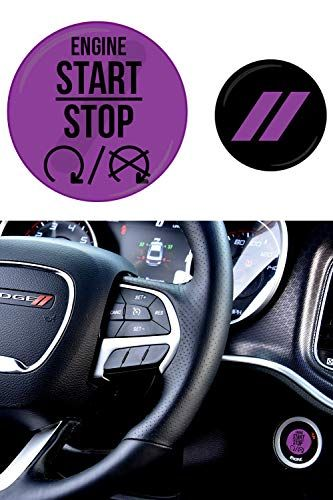 Jdl Autoworks Compatible With 2015 2019 Dodge Charger Challenger Starter Button Decal Overlay 3d Dodge Charger Dodge Accessories Dodge Challenger Accessories