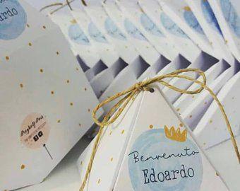 Scatoline Portaconfetti Bomboniere Battesimo Bomboniere Nascita Scatolina Elefantino Milk Box Place Card Holders Place Cards Cards