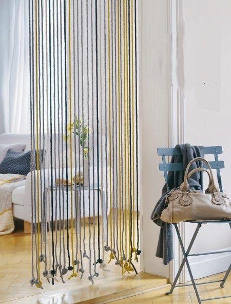 Ideas de cortinas con lana que podrás hacer tu misma! Crochet