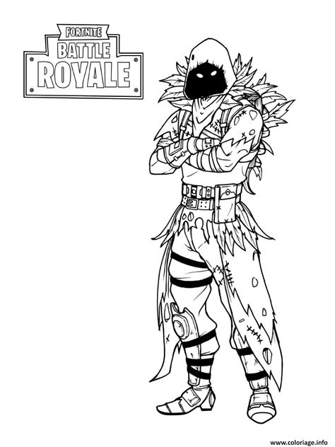 Coloriage Fortnite Nevermore Soldier A Imprimer Coloriage A